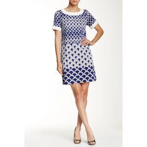 Julie Brown Women's Small Blue Carmen Shift Dress